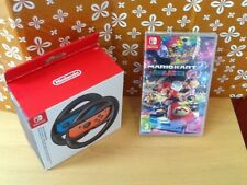 Nintendo switch    New sealed Mario kart 8 deluxe 2 racing wheels boxed