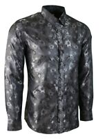 MENS SILK FEEL DINNER OCCASION SHIRT FOR WEDDING FORMAL CASUAL PARTY  £18.99(411