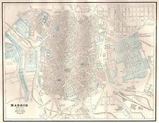 Spain Madrid Antique Europe City Maps | eBay