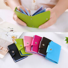 PU Leather 24 Bit Business Function Credit Card Wallet ID Wallet Bifold Wallet