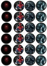 24 Muffin & Cupcake Aufleger  Oblate - Fondant Spiderman C3