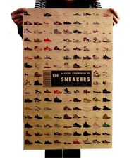 FD3197 A Visual Compendium Of Sneakers Craft Paper POSTER Map Wall Print 51CM ♫