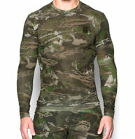 Under Armour UA BASE Thermal Ridge Reaper Forest Camo V Neck Compression Top, SM