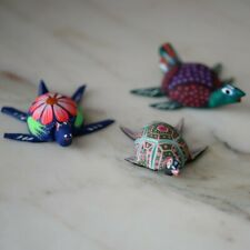 Turtle Alebrije  Wood Carving Mexican Hand Painted