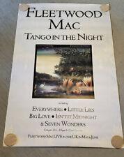 Fleetwood Mac Tango in the Night 1987 large Uk Subway Promo Poster Stevie Nicks