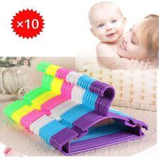 Liplasting 10Pcs Portable Clothes Hanger Kids Toddler Clothes Plastic Hangers