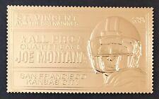 St Vincent JOE MONTANA 23kt Gold Foil Stamp ALL PRO QUARTERBACK Football SPORTS