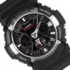 Casio G-Shock Mens Wrist Watch GA200-1A GA-200-1A Digital-Analog Black Silver