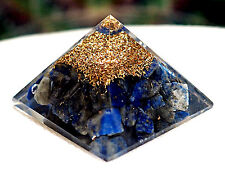 Lapis Lazuli Orgone Orgonite Baby Small Pyramid  Energy cleansing Lapis Lazuli