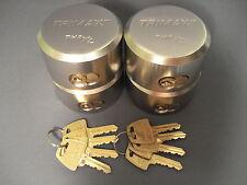 "Trimax 4 Pack Keyed Alike ""Hockey Puck"" Enclosed Cargo Trailer Door Lock Padlock"