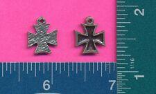 12 wholesale lead free pewter iron cross pendants 3046