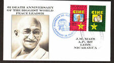 Nicaragua 1994, Mahatma Gandhi of INDIA on Cachet, Postally used cover,