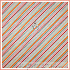 BonEful Fabric FQ Cotton Quilt White Color Sm Stripe Orange Pink Red Ballet Girl