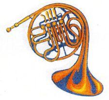 Aufkleber Horn farbig Zupfinstrumente Musik Noten