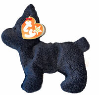 Original Ty Beanie Baby SCOTTIE The Black Terrier Dog With Tag