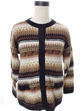 ML KESSLER Handmade Peru Alpaca Cardigan Sweater Size Medium M