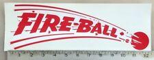 "Vintage Fire-Ball FireBall Trailer RV sticker decal LARGE 12""x4"""