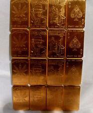 10 Pound Brick 4 style Copper Cracker .999 fine Copper Bullion Art Bar Ingot F/S