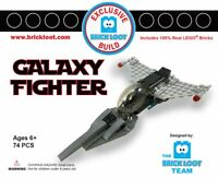 Exclusive Brick Loot Galaxy Fighter Jet Aircraft - 100% LEGO bricks