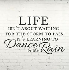 Wall Quote LIFE, Dance in the rain Wall Quote Wall Art, Cut Vinyl Wall Sticker