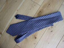 DEBENHAMS Mens 100% Silk Purple & Navy Tie