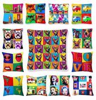 Luxury Cushion Covers Retro Pop Art Design Digital Printed Square Pillow Case