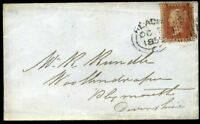 "1855 C6 1d Red *READING ""BISCUIT"" SPOON* 635 cancel to Plymouth"