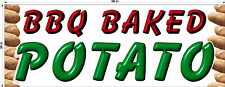 3' X 8'  VINYL BANNER BARBECUE BBQ BAKED POTATO AND ELOTE BANNER