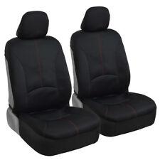 Waterproof Front Car Seat Covers for Gym Sweat Workouts Yoga Red/Black
