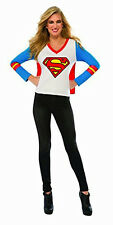 Women's DC Superheroes Supergirl Sporty Tee Shirt With Cape Size Large