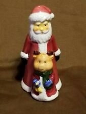 Christmas Santa Claus & Pig Salt & Pepper Shakers