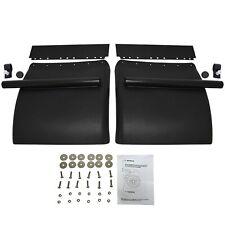 Black Poly Quarter Fender Set 24x24 Freightliner Kenworth Peterbilt W/ Hardware