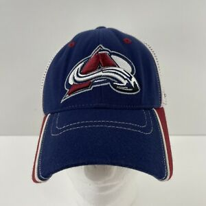 Colorado Avalanche ZEPHYR Z FIT M/L Flex Mesh Logo Wave Hat Curved Bill NHL