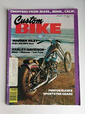 Custom Bike Magazine January 1978 - Harley-Davidson Museum - Triumph Bonneville