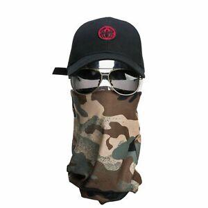 Bandana Mask Scarf- Army - A975 Seamless Headwear Face Wrap Tube Headband