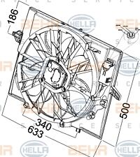 HELLA 8EW 351 041-271 FAN RADIATOR FITS BMW E 60 WHOLESALE PRICE FAST SHIPPING