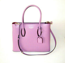 🌸 NWT Kate Spade Medium Top Zip Eva Shadow Anchor Leather Handbag Pink Mauve