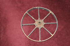 "Antique Farm Barn Wagon Wheel-8 Spoke Wheel-17"" Wheel-Country Decor-#2-LQQK"