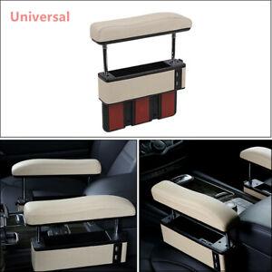 Car Driver Seat Pocket PU Leather Storage Armrest Box Organizer Holder w/ USB
