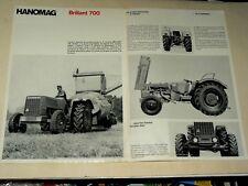 Prospectus Tracteur HANOMAG 700 Moissonneuse Traktor Tractor Brochure Prospekt