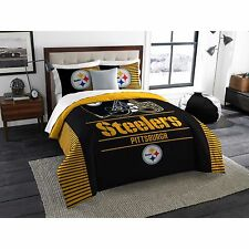 NEW! NFL Pittsburgh STEELERS Nation Comforter 3 pc KING SIZE Set  Bedding Logo