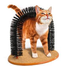 New Cat Plastic Brush Rub Hair Scratching Kittens Self-Groomer Pet Toy Arch