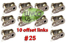 10 Offset Links #25 For Roller Chain #25, Go Karts, Mini Bikes, 4X4