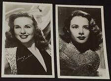 1940-1950's MOVIE STARS SUSAN PETERS + DEANNA DURBIN - REAL PHOTO POSTCARDS (2)