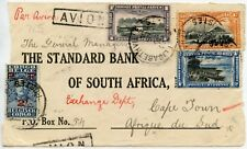 BELGIAN CONGO AIRMAIL to SOUTH AFRICA CAPE COVER FRONT ONLY 50c VARIETY