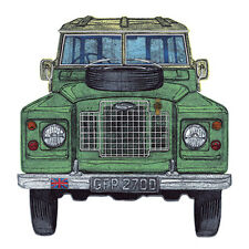 """BLANK CARD """"LAND ROVER"""" LARGE SQUARE SIZE 6.25"""" x 6.25"""" 8851 EVEH"""
