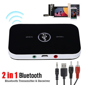 Bluetooth 5.0 Audio Transmitter Receiver RCA 3.5mm AUX Jack USB Dongle Music A94