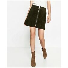 Seen on TV Zara Genuine Suede Olive Green skirt S