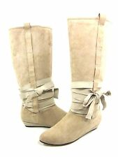 DOLCE VITA WOMEN'S AMBER WRAP FASHION BOOTS,STONE KIDSUEDE, US SIZE 7 MEDIUM