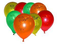 Peppa Pig Latex Balloons (x 8) Multicoloured birthday party round latex balloons